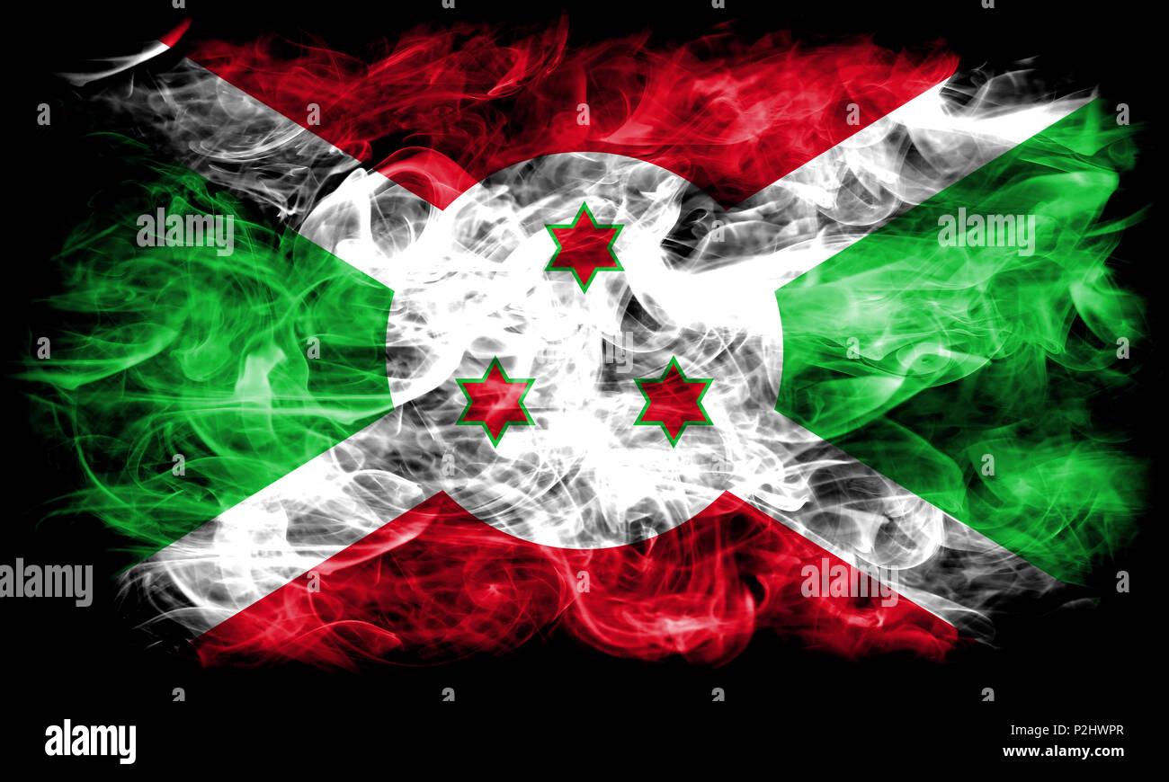 Burundi smoke flag Stock Photo