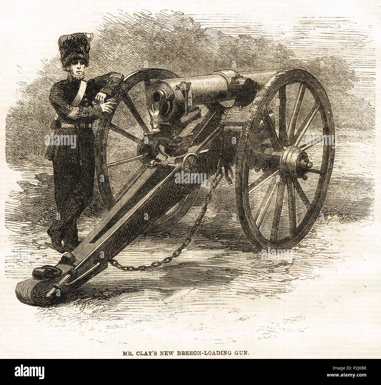 William Clay breech-loading field gun, 1862 - Stock Image