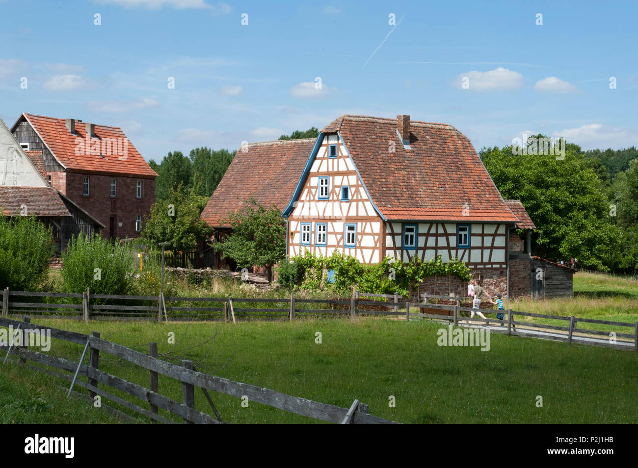 Odenwald open air museum Gottersdorf, Baden-Wuerttemberg, Germany - Stock Image