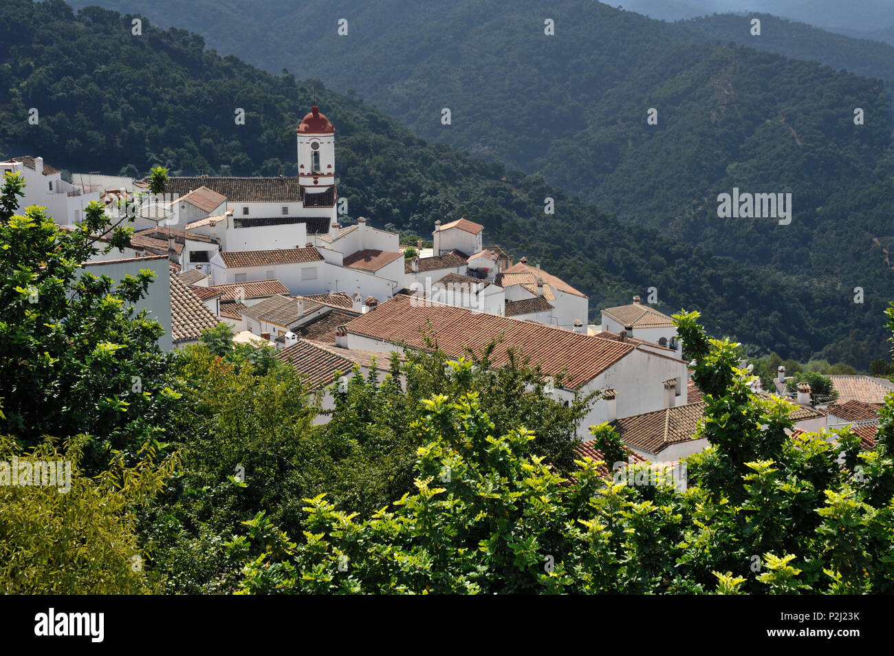Genalguacil in the Serrania de Ronda, Andalusia, Spain - Stock Image