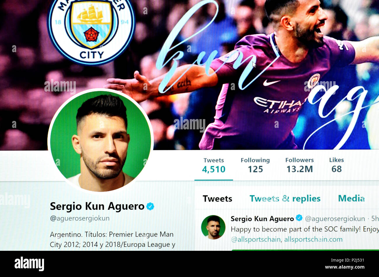 Sergio Aguero Stock Photos & Sergio Aguero Stock Images
