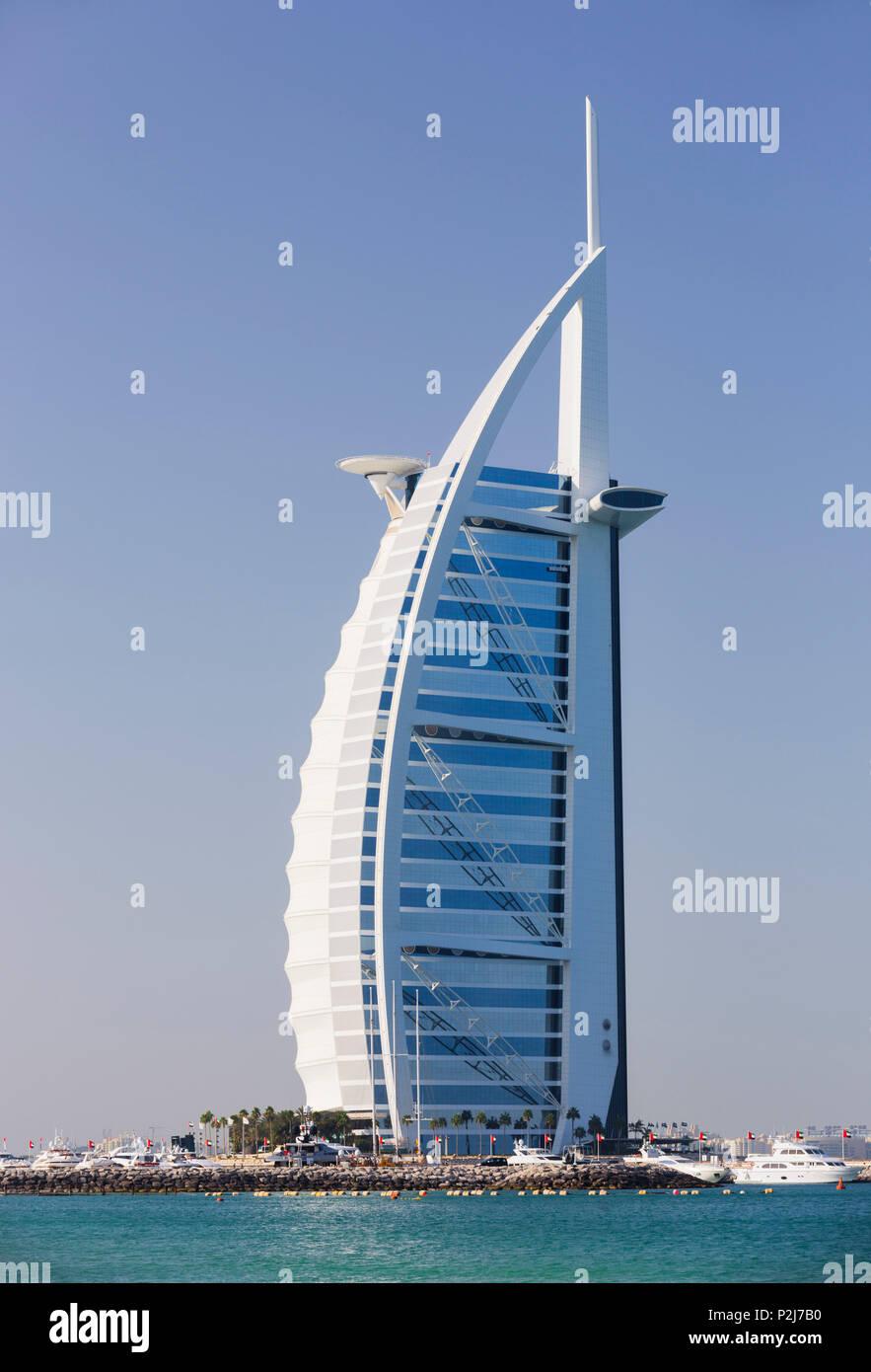 Luxury Hotel Burj Al Arab, Dubai, Unites Arab Emirates, UAE - Stock Image