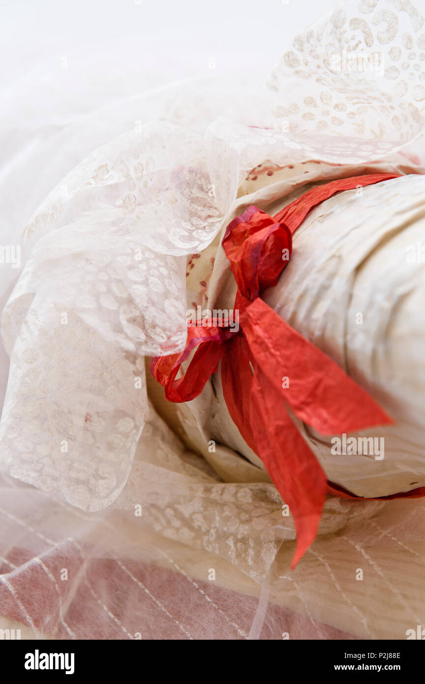 Paper ribbon and lace - Stock Image