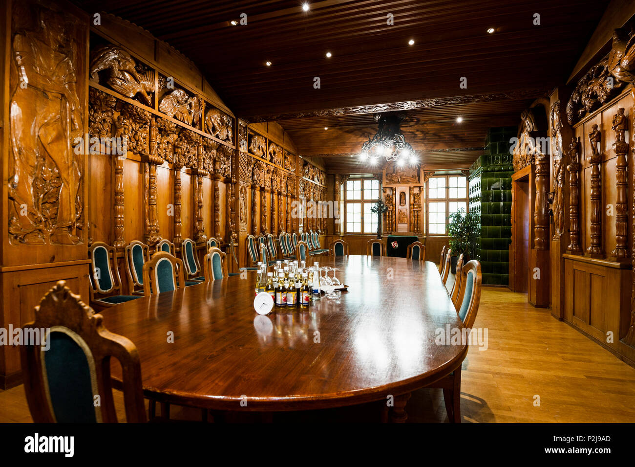 Council chamber, Triberg, Black Forest, Baden-Wuerttemberg, Germany - Stock Image