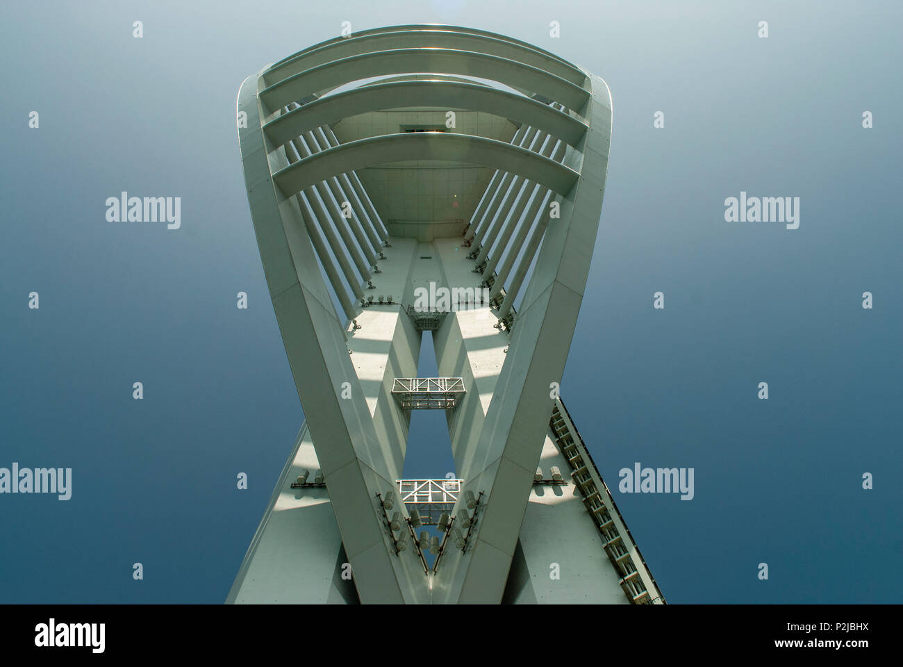 View of Spinnaker Tower, Gunwharf Quays, Portsmouth, UK Stock Photo
