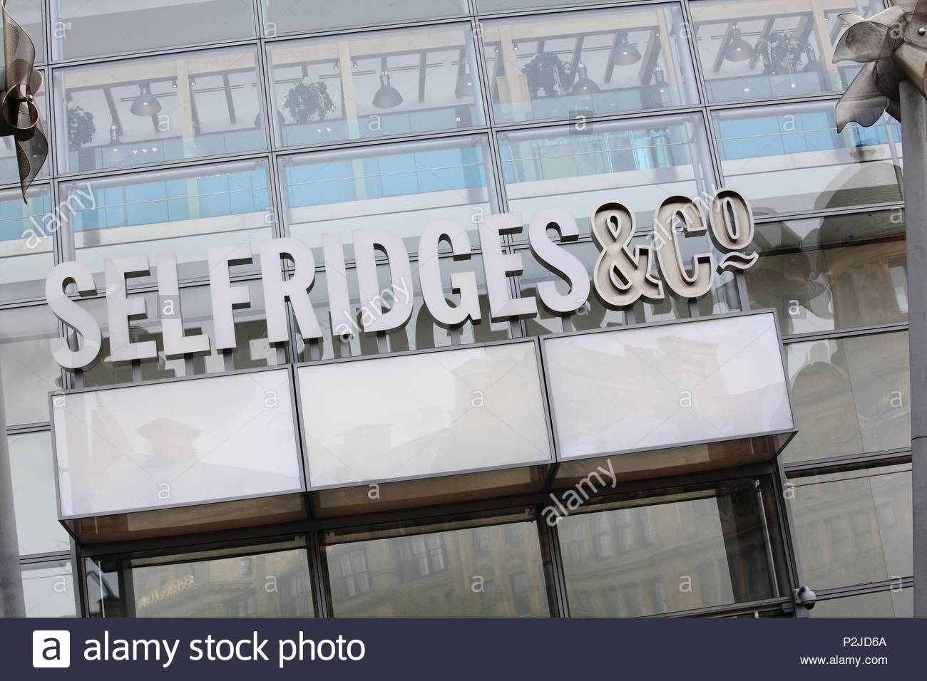 Selfridges & Co Store Front at Manchester City Centre, Manchester UK Summer June 2018 - Stock Image