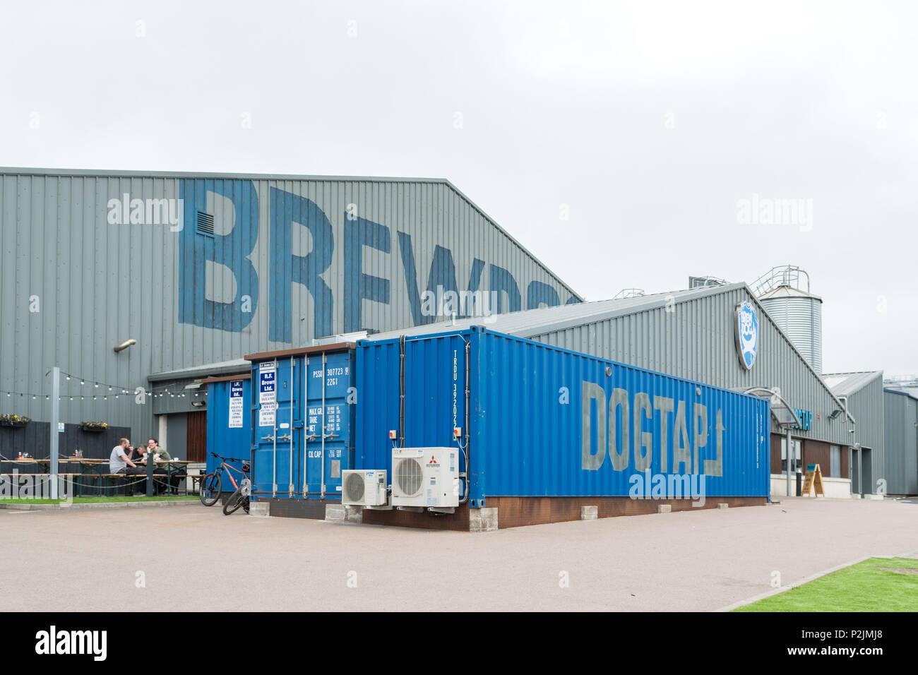 BrewDog brewery and DogTap, Ellon, Aberdeenshire, Scotland, UK - Stock Image
