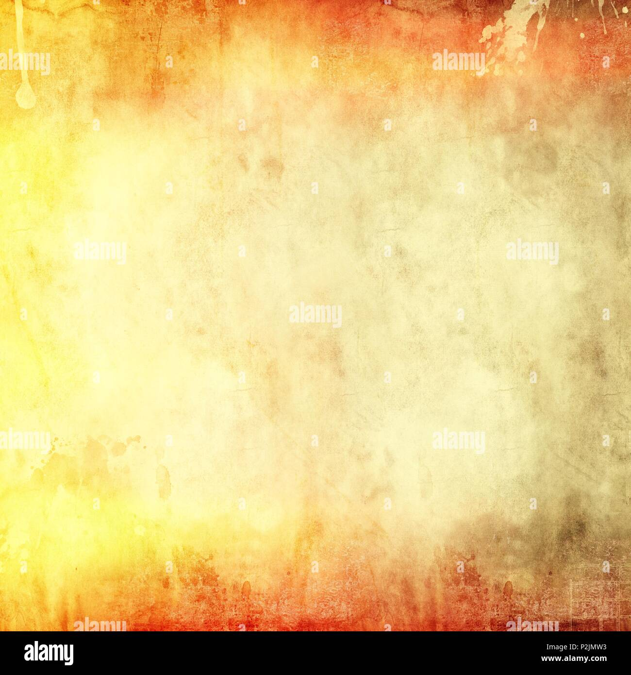Vintage paper texture background. Red and yellow tones. - Stock Image
