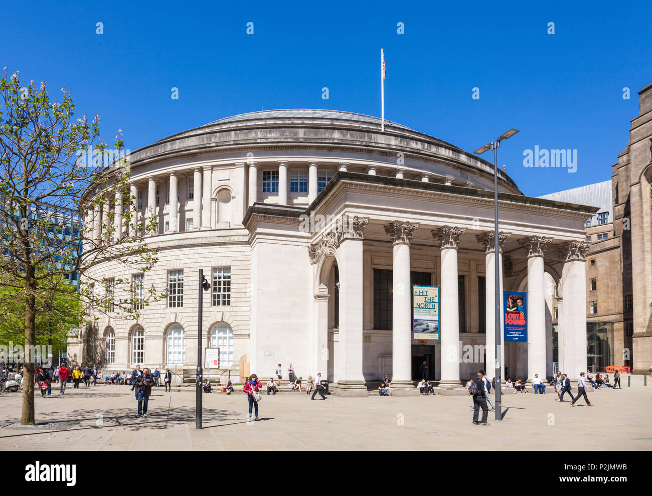 England Manchester England greater Manchester City centre city center manchester central library st peters square manchester city centre manchester uk - Stock Image