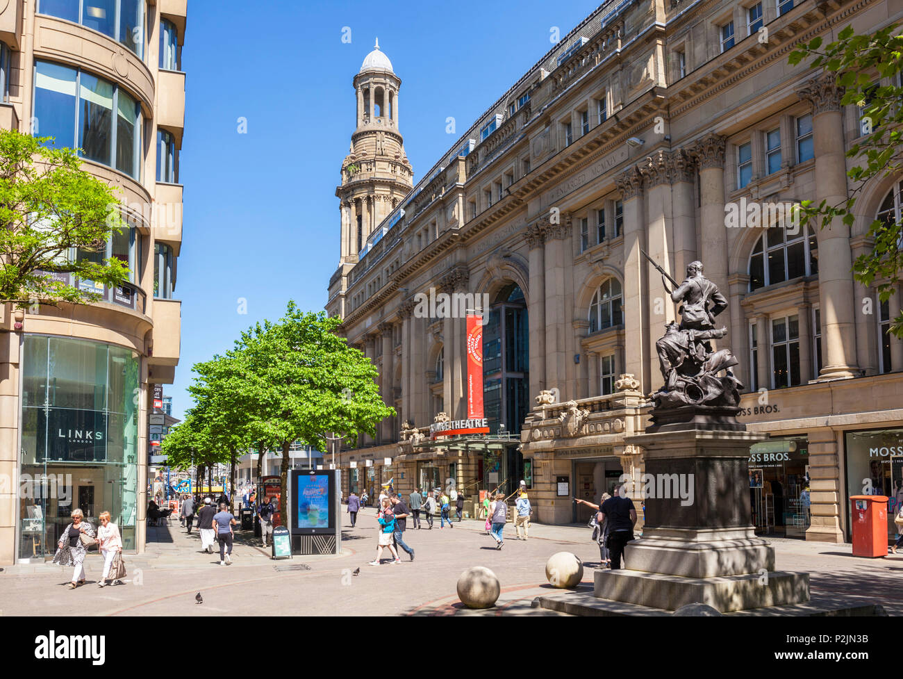 England Manchester England greater Manchester City centre Royal exchange theatre exchange street boer war memorial st annes square  manchester uk - Stock Image