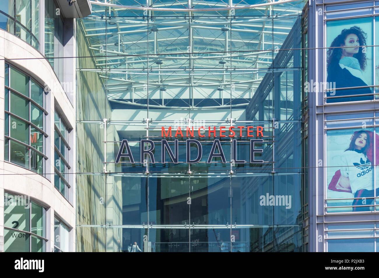 England Manchester England greater Manchester Arndale centre facade City centre city center manchester uk england gb uk europe - Stock Image