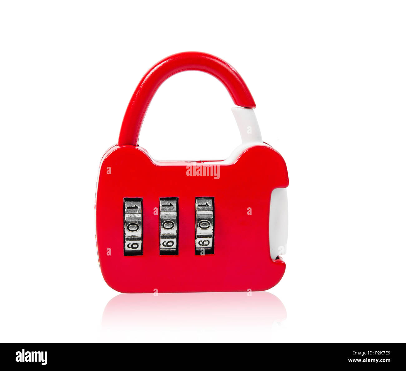 Red master key isolation on white background, Save clipping path. Stock Photo