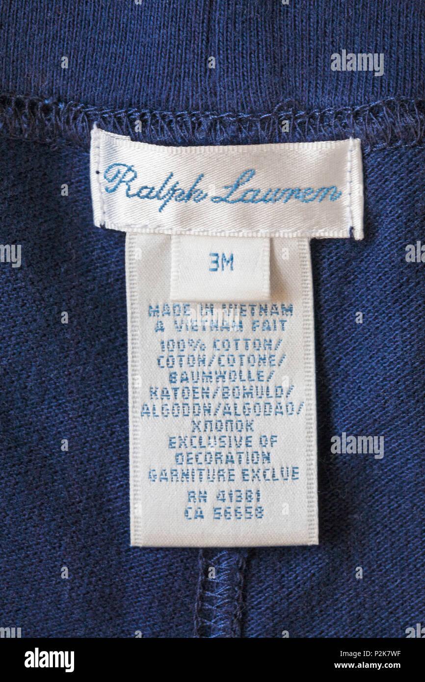 Label Vietnam Clothing Ralph Top Baby Boys Lauren Made 100 In