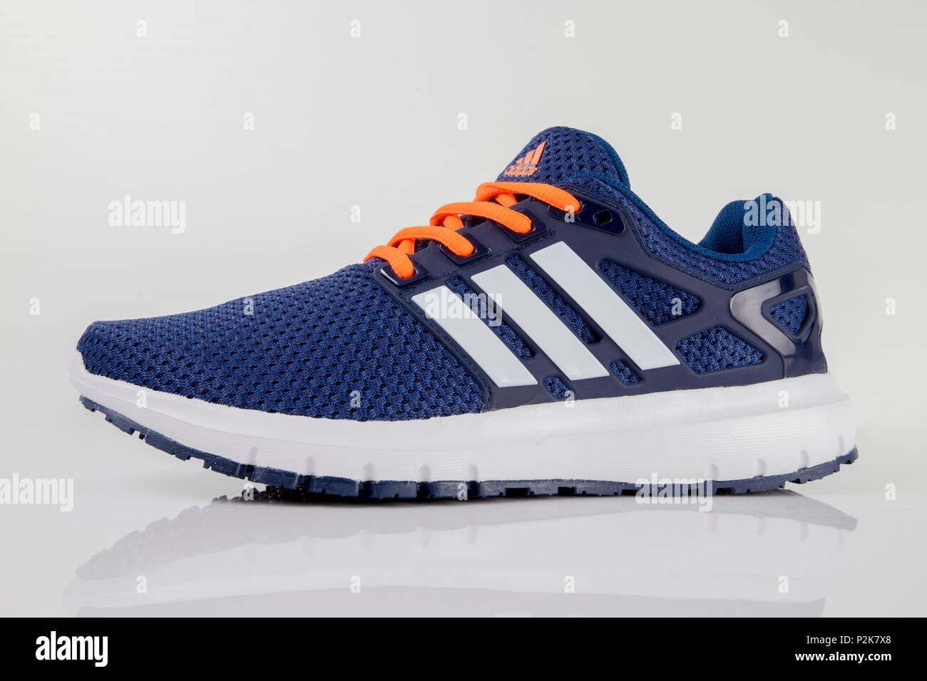 Modernizar incidente zona  Afife, Portugal - June 11, 2018: Adidas Running boots. Adidas,  multinational company. Isolated on white. Product shots Stock Photo - Alamy