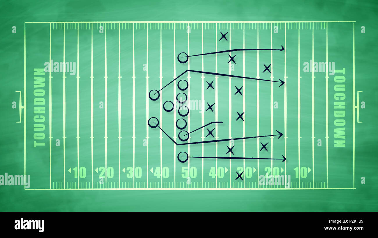 A Confident 3d Illustration Of A Sport Field For American Football Field Covered With Zeroes And Arrows It Shows The Tactics Of Defense Players Tryin Stock Photo Alamy