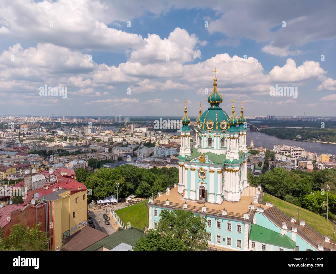 St. Andrews Aerial Kiev Stock Photo