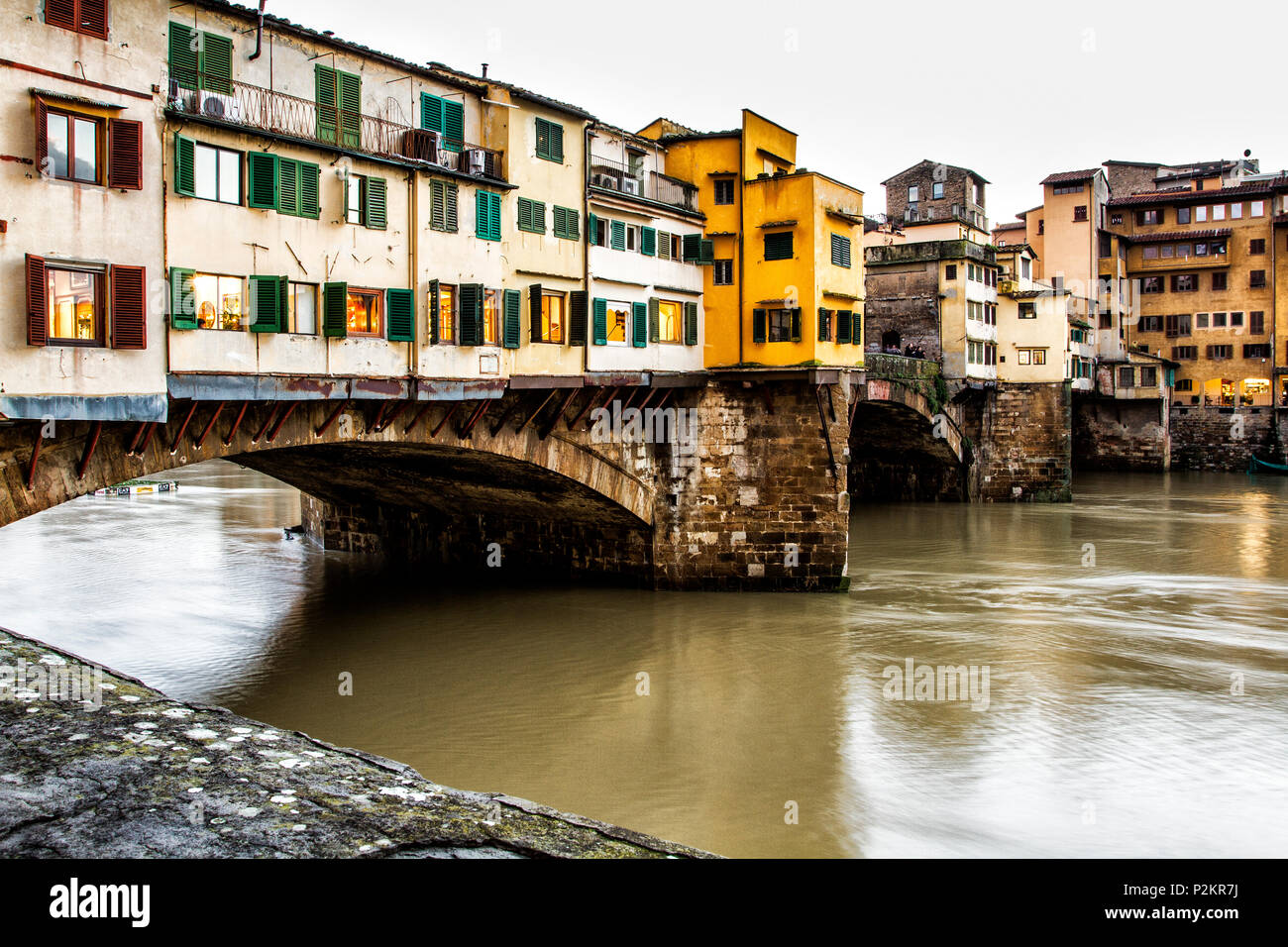 Ponte Vecchio (Old Bridge). Florence, Province of Florence, Italy. - Stock Image