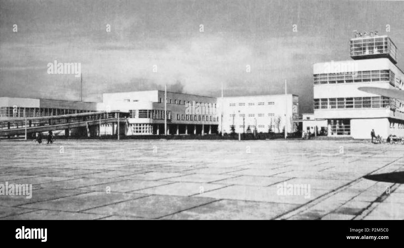 . Italiano: Milano, l'Aeroporto Enrico Forlanini di Linate . circa 1937. Anonymous 56 Milano, Aeroporto di Linate 01 - Stock Image
