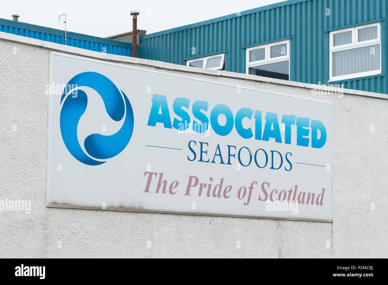 Associated Seafoods, Buckie, Moray, Scotland, UK - Stock Image