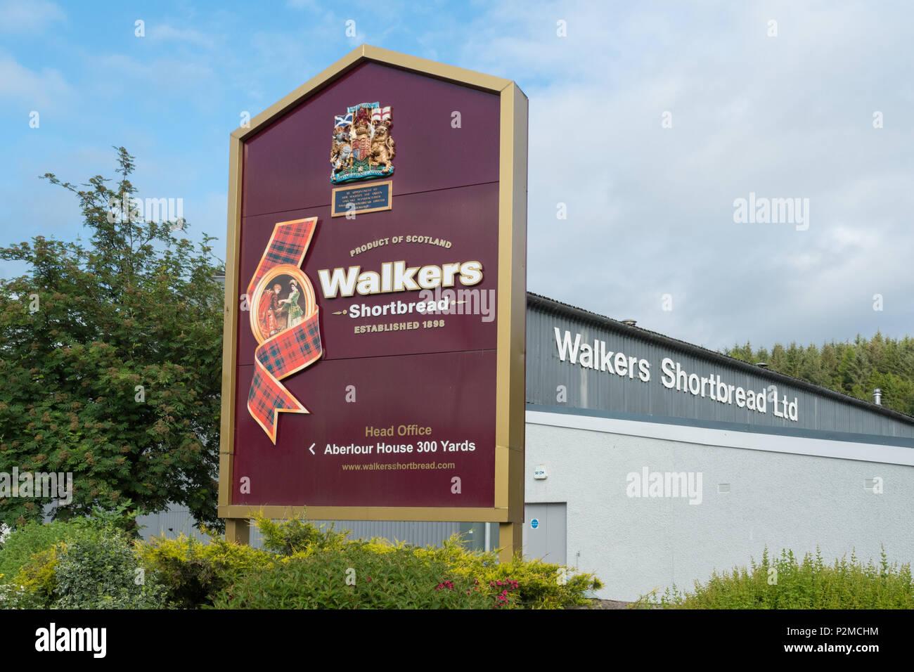 Walkers Shortbread factory, Aberlour, Scotland, UK - Stock Image