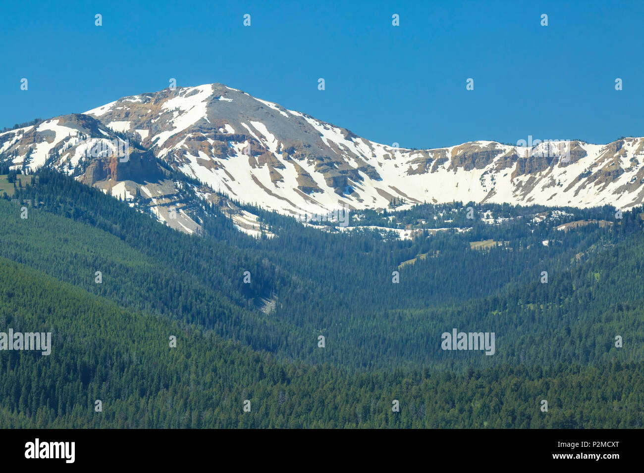 bald peak along the continental divide of the henrys lake mountains near west yellowstone, montana Stock Photo