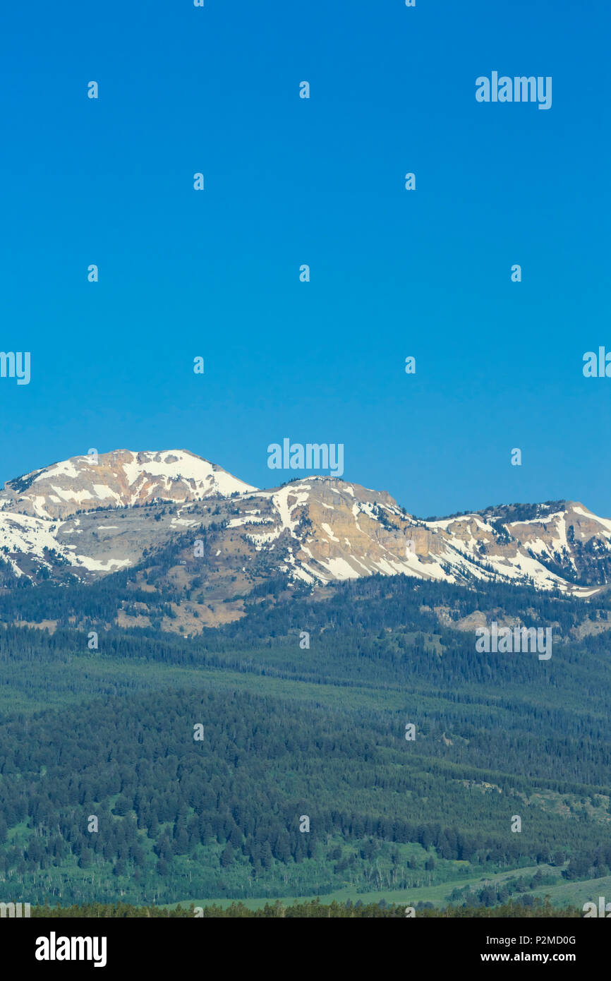 bald peak and lionhead  in the henrys lake mountains near west yellowstone, montana - Stock Image