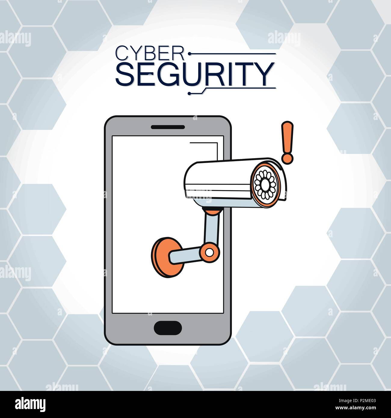 Cyber security concept - Stock Image