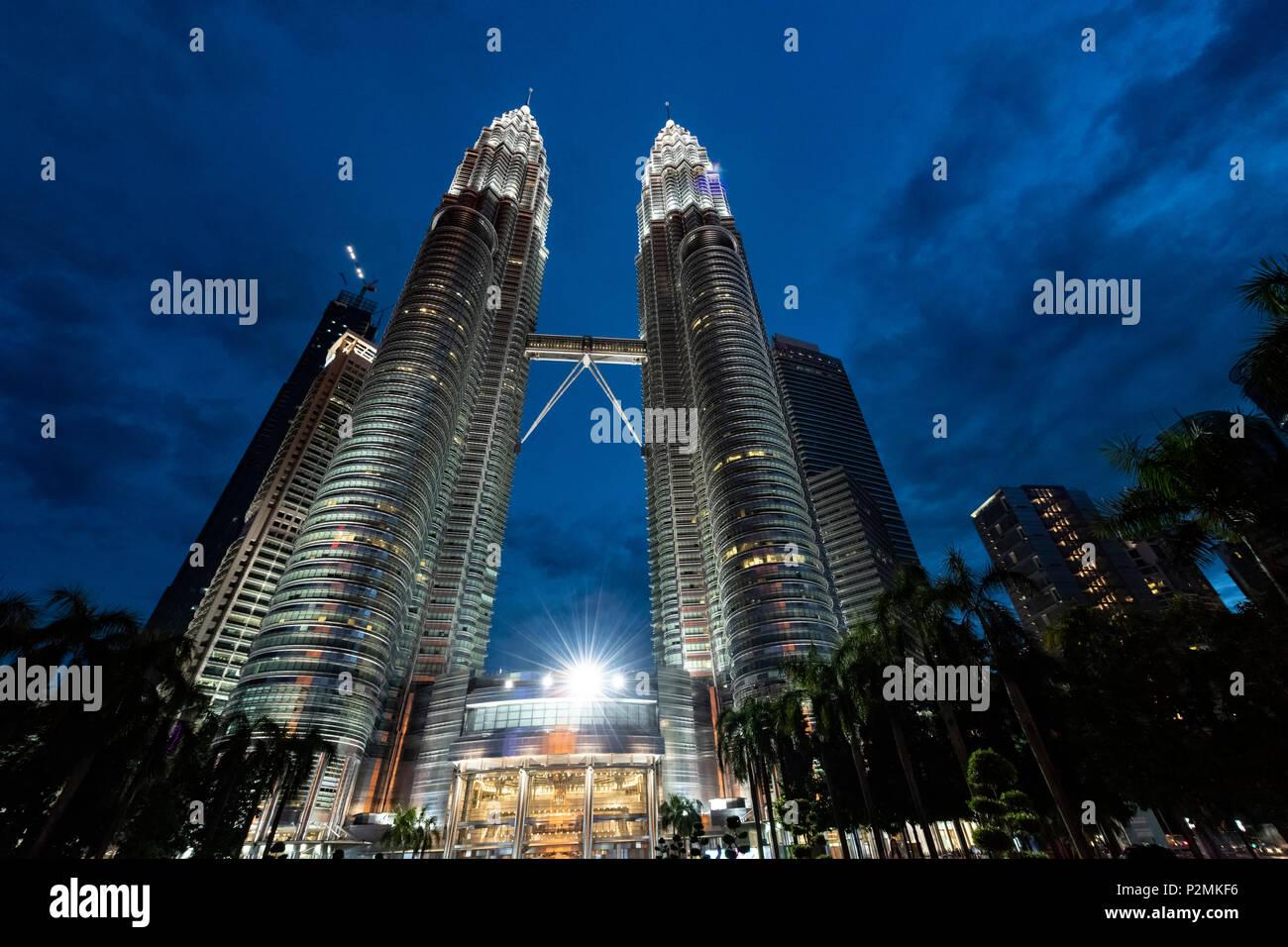 The Petronus Towers, Kuala Lumpur, Malaysia - Stock Image