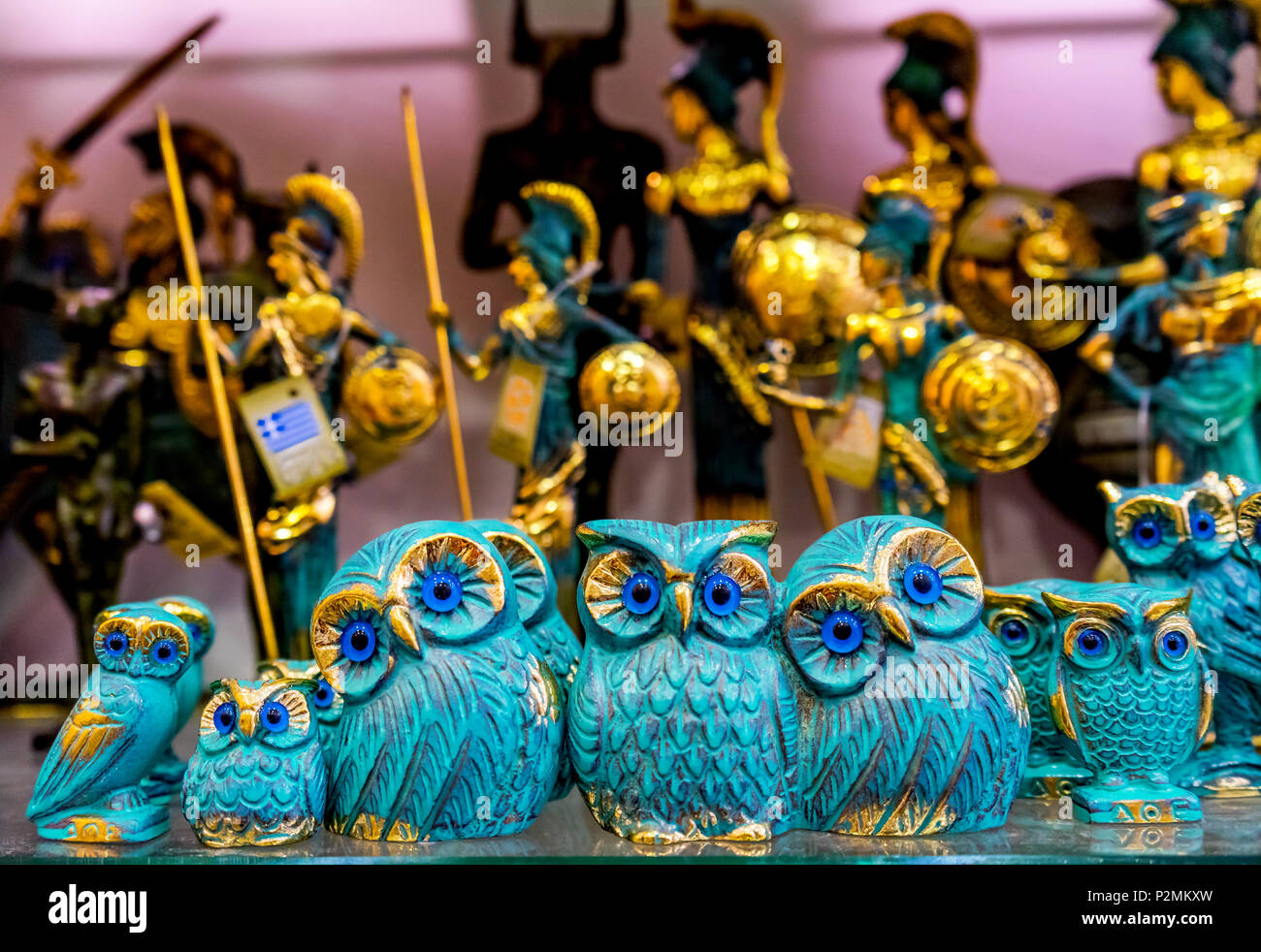 Greek Bronze Owls Symbol Athena Athens Greece Owls Are Symbol Of
