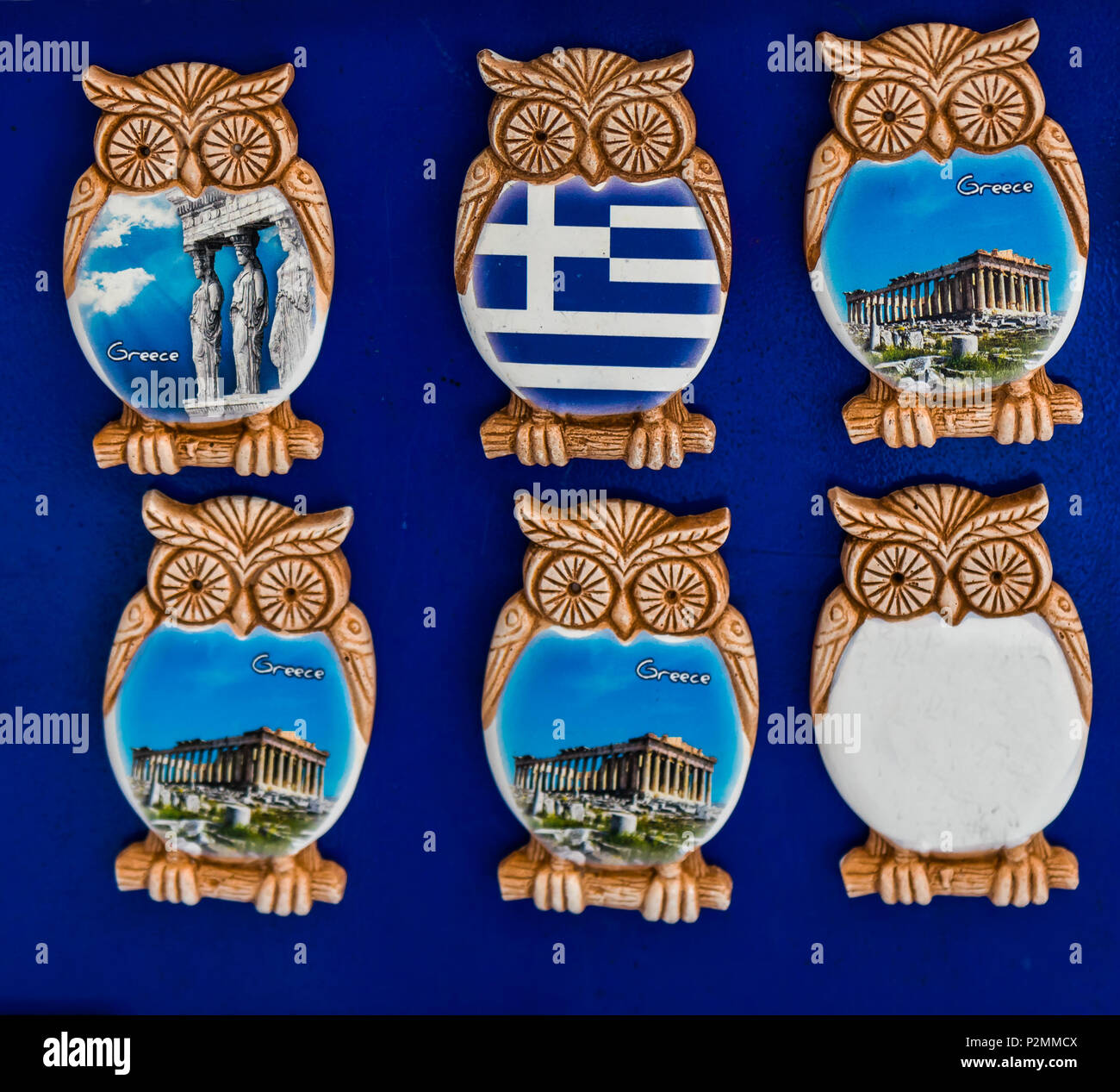 Greek Ceramic Designs Owl Magnets Parthenon Athens Greece Owls Are