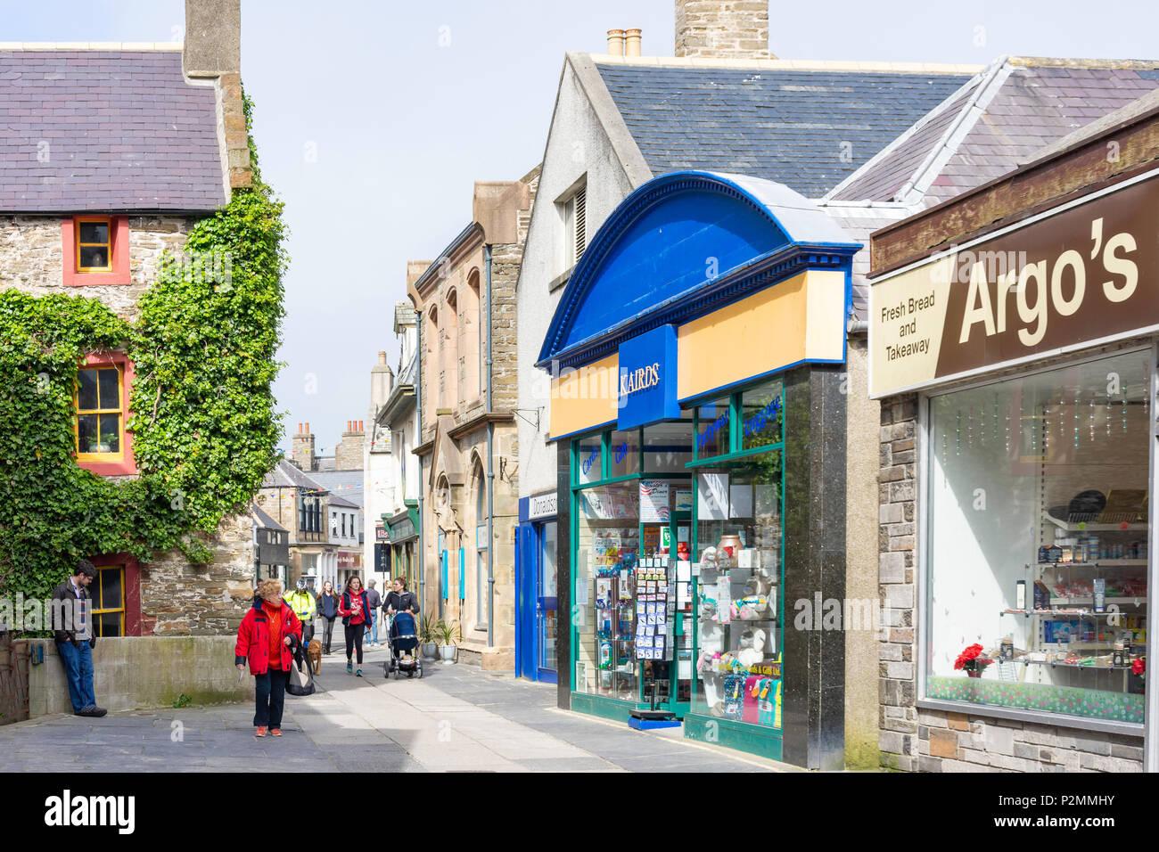 Albert Street, Kirkwall, Mainland, Orkney Islands, Northern Isles, Scotland, United Kingdom - Stock Image