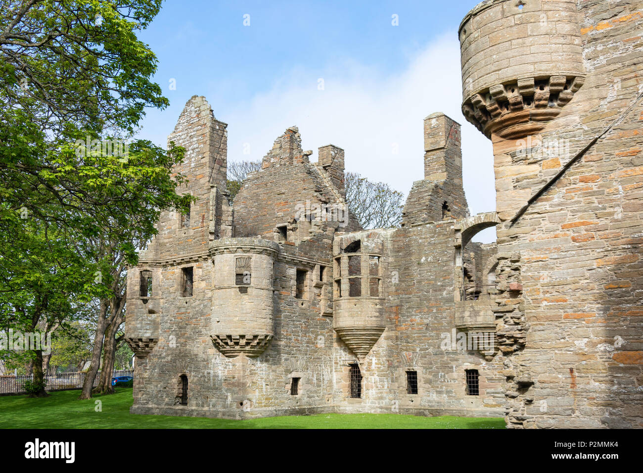 17th century Renaissance-style The Earl's Palace,  Watergate, Kirkwall, Mainland, Orkney Islands, Northern Isles, Scotland, United Kingdom - Stock Image
