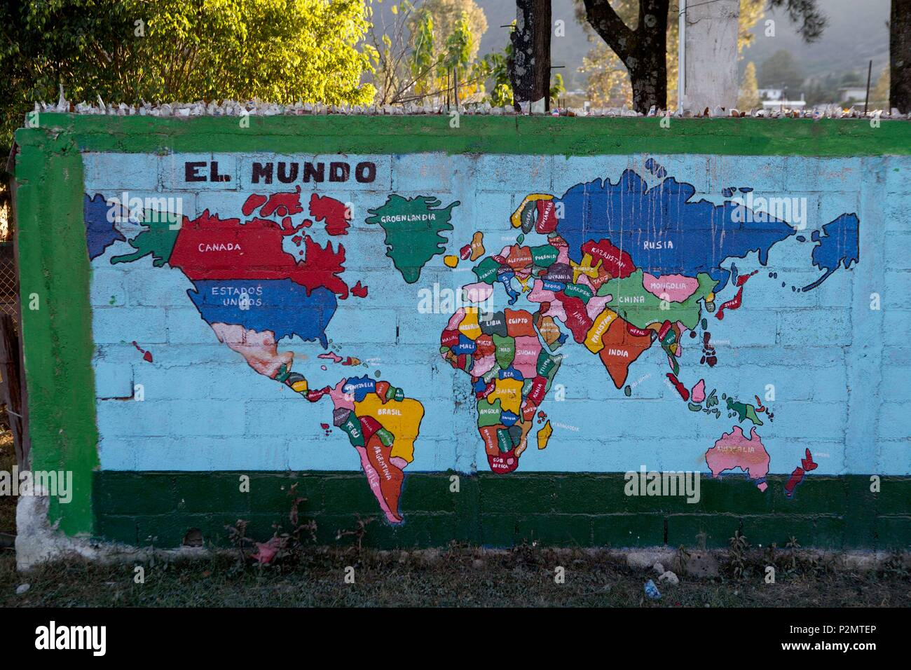 Street World Map.Guatemala Departement Of Huehuetenango City Of Chimusinique A