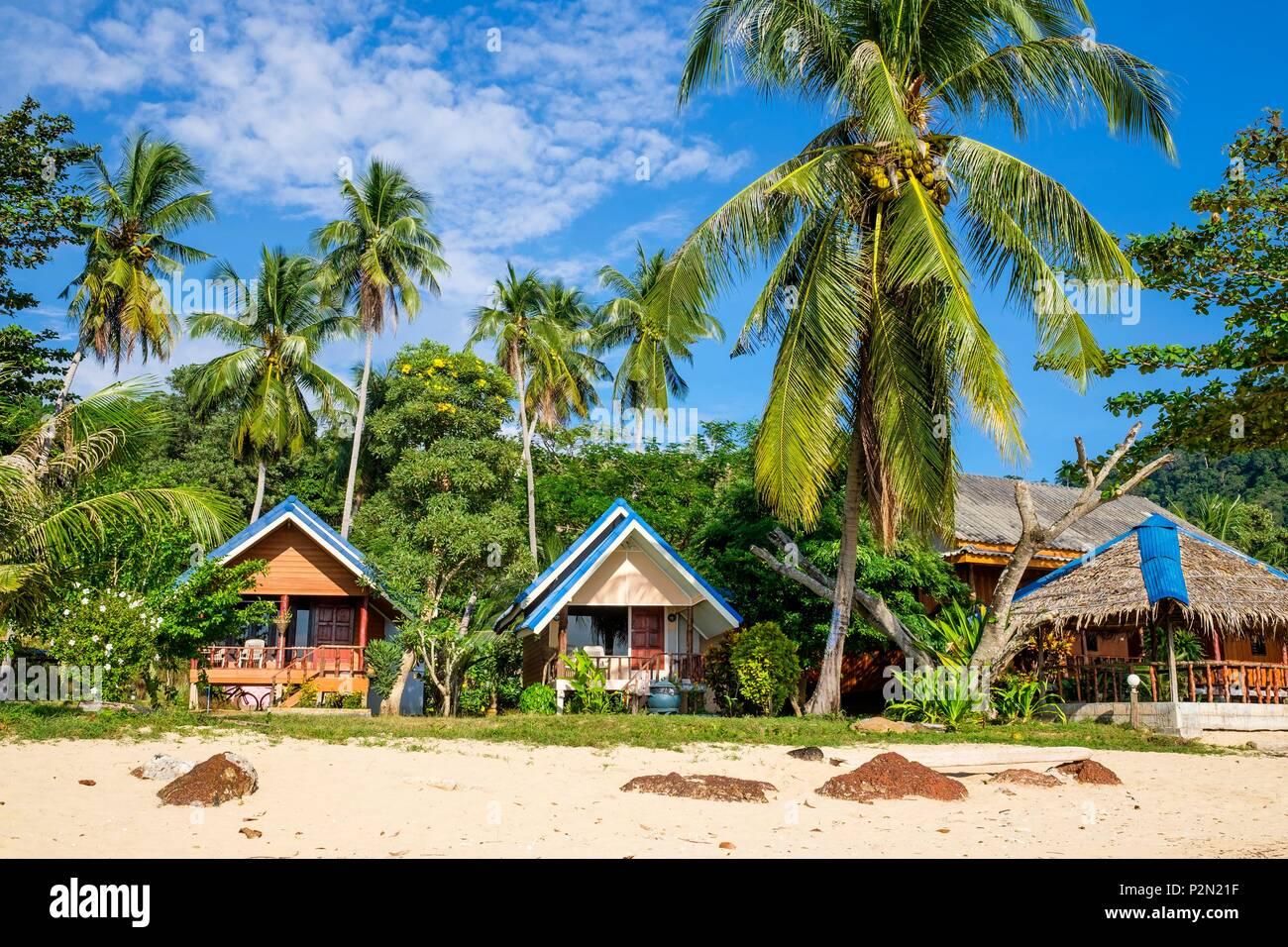 Thailand Trang Province Ko Libong Island Bungalows Of