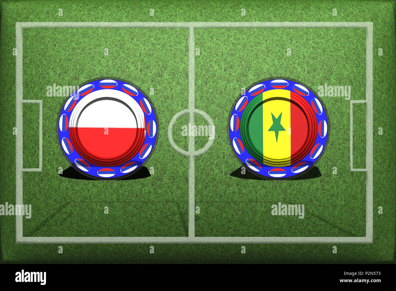 ScreeningAndBlurSoDesiredFootballCompetitionBetweenNationalTeamsPolenSenegal