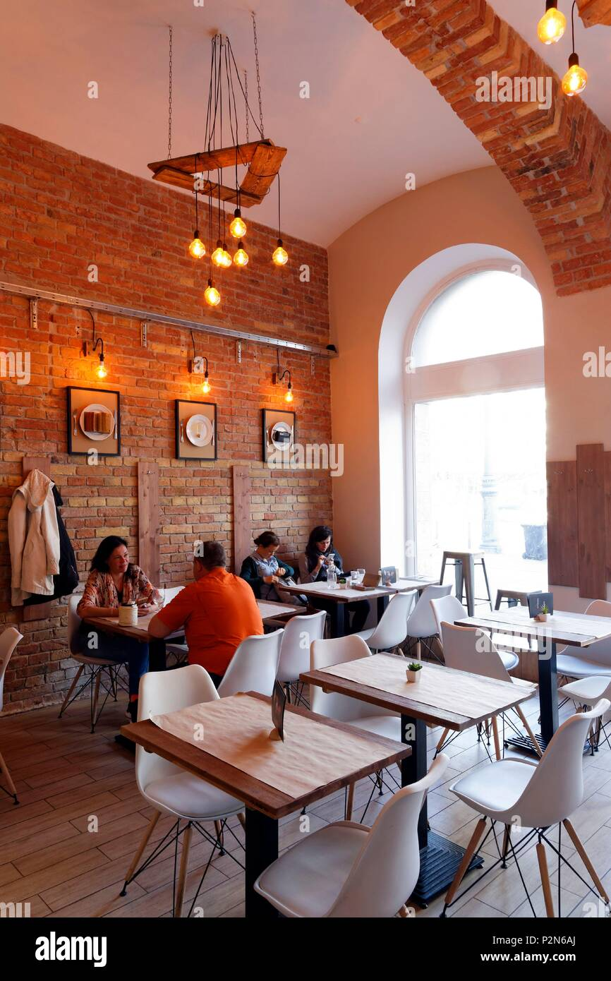 Budapest, Hungary, area classified as World Heritage, Pest, KGB restaurant - Stock Image