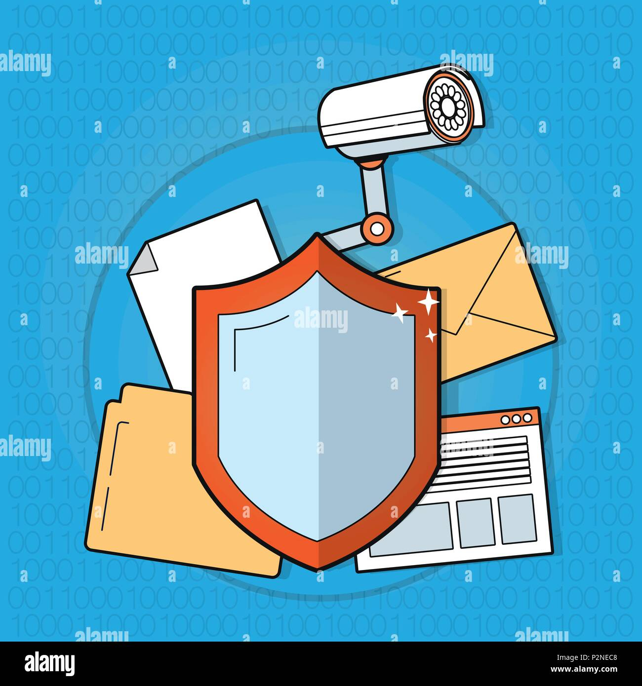 Cyber security technology - Stock Image