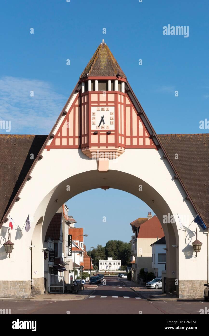 France, Pas de Calais, Le Touquet Paris Plage, covered market of ...