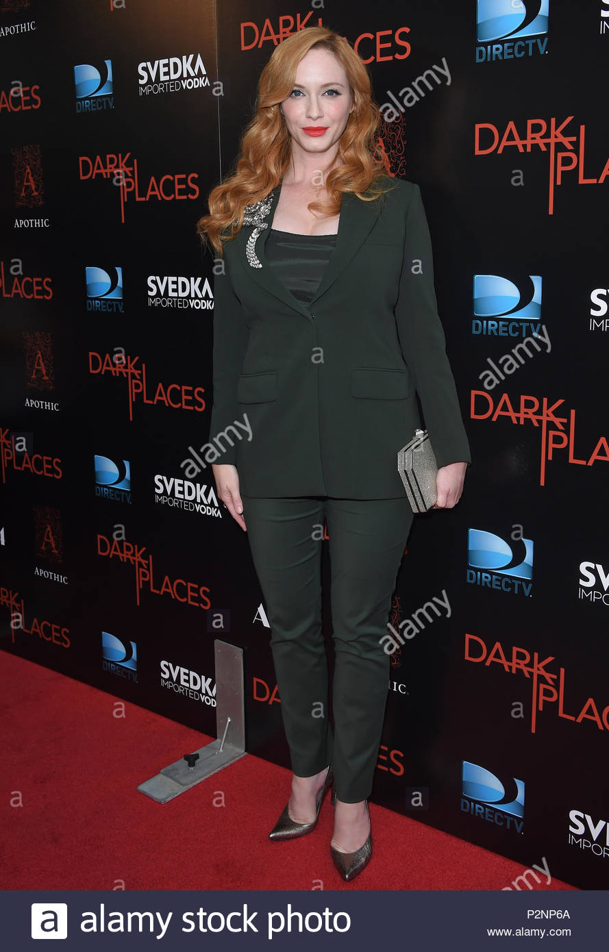 Christina Hendricks. 'Dark Places' Premiere. - Stock Image