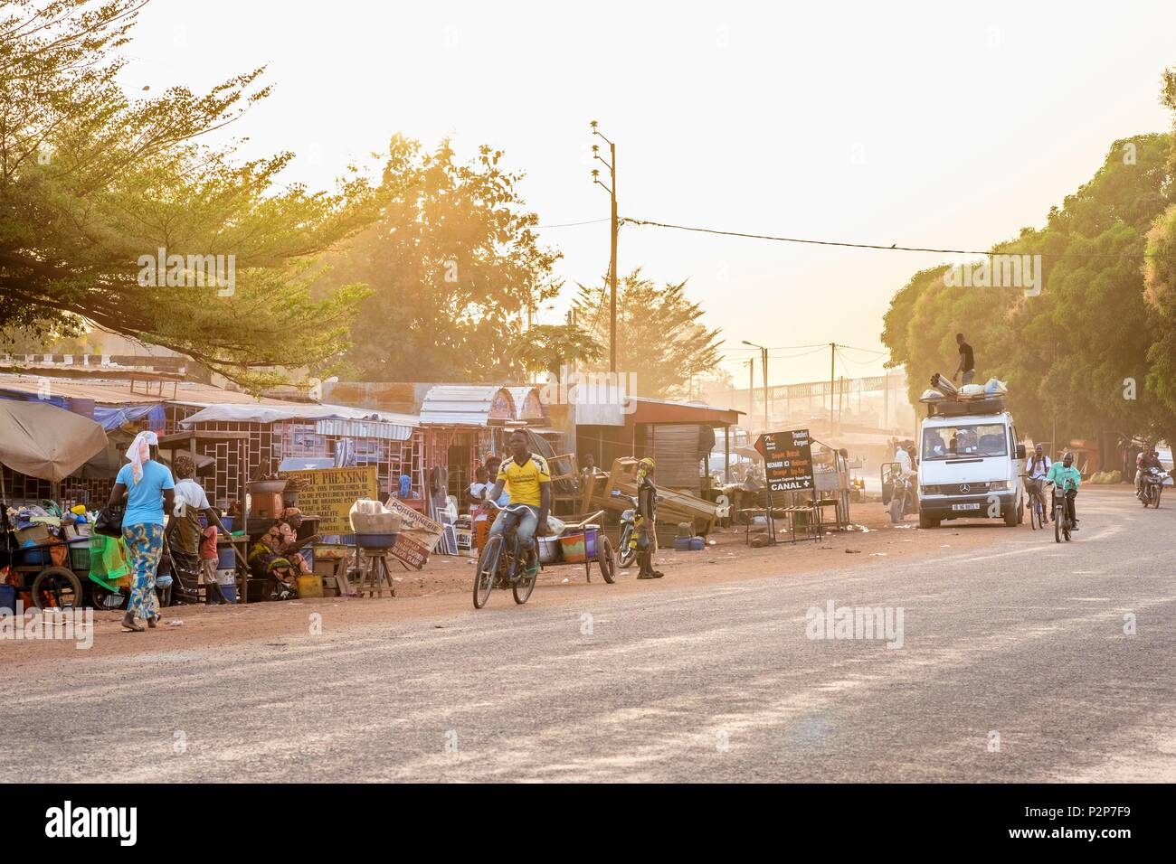 Burkina Faso, Banfora, capitale of Cascades region and Comoe province, N7 road - Stock Image