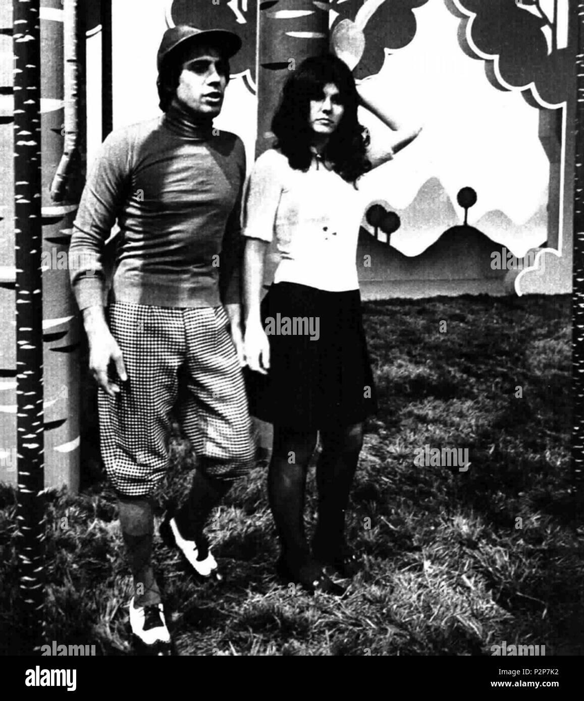 . Italian singers Adriano Celentano and Claudia Mori . May 1972. Unknown 4 Adriano Celentano and Claudia Mori - Stock Image