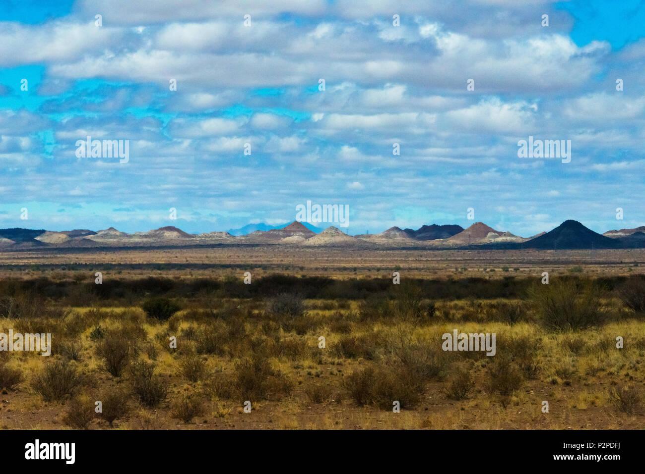 Landscape of Kalahari Desert, Karas Region, Namibia - Stock Image