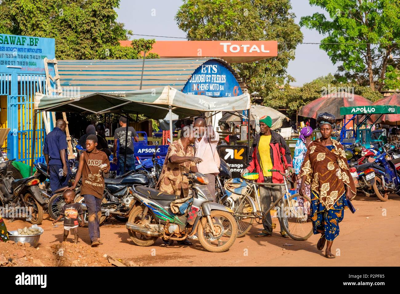 Burkina Faso, Hauts-Bassins region, Bobo-Dioulasso Stock Photo
