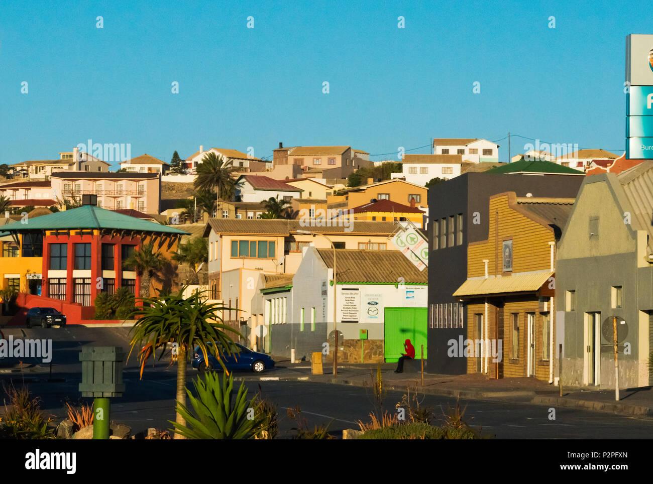 Colonial house, Luderitz, Karas Region, Namibia - Stock Image