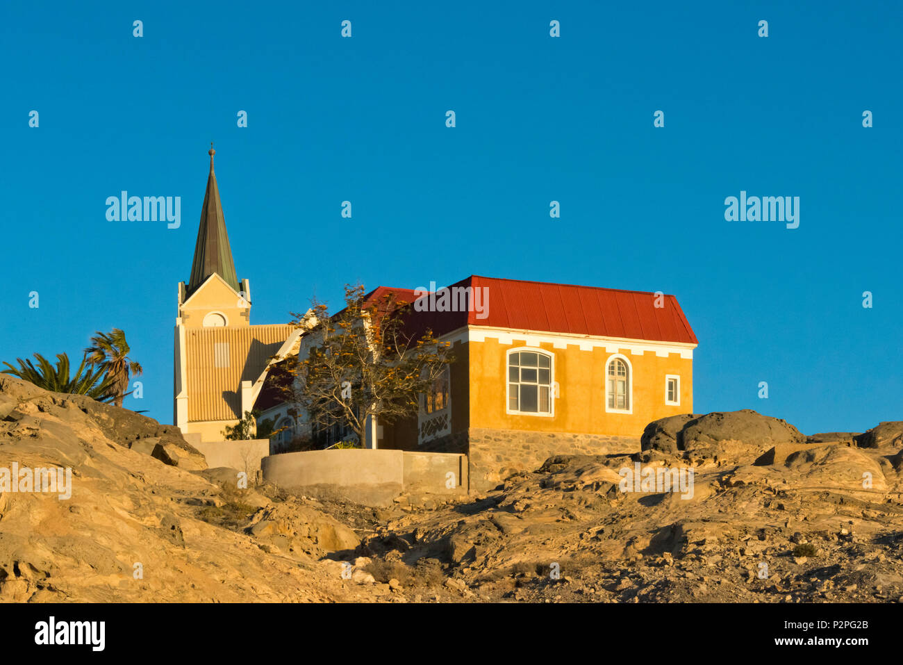 German Church, Luderitz, Karas Region, Namibia - Stock Image