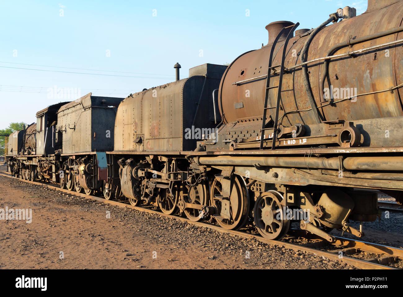 Deserted locomotive, Victoria Falls, Zimbabwe - Stock Image