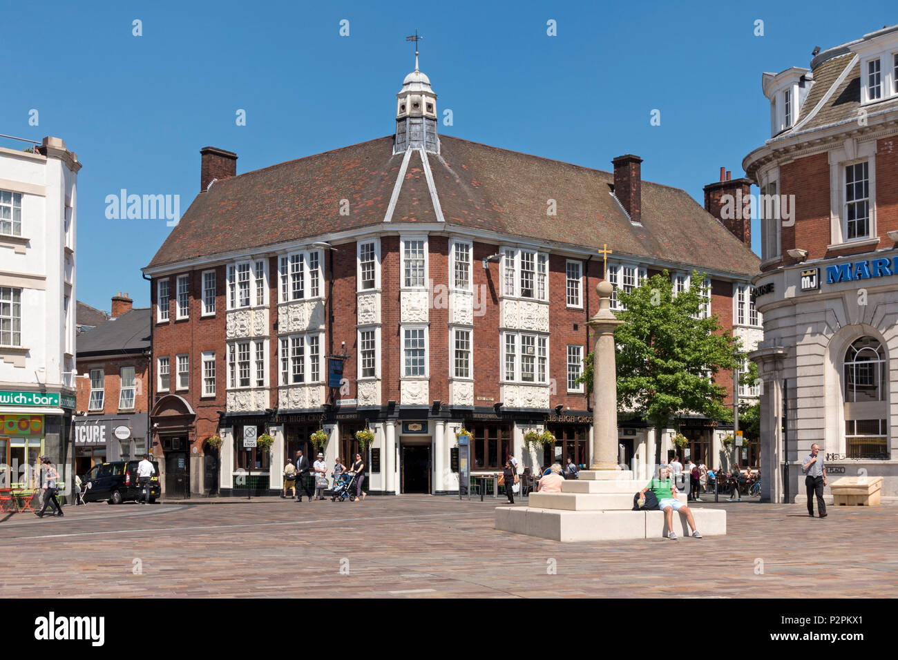 'The High Cross' Wetherspoons public house, Jubilee Square, Leicester, England, UK. - Stock Image