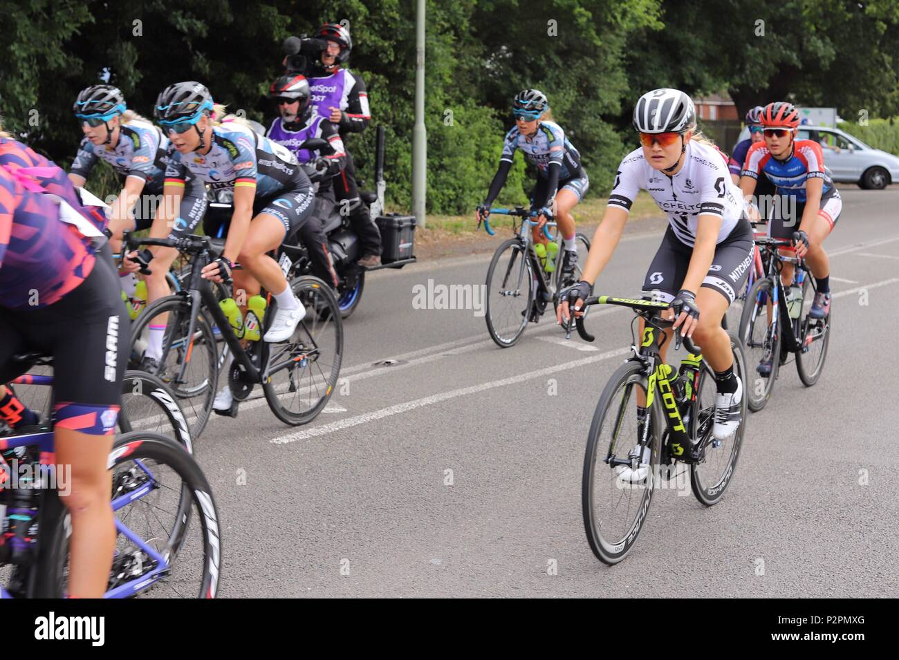 Mitchelton Scott team rider in the OVO Energy Women s Tour Stage in  Kesgrave ee8841ce4