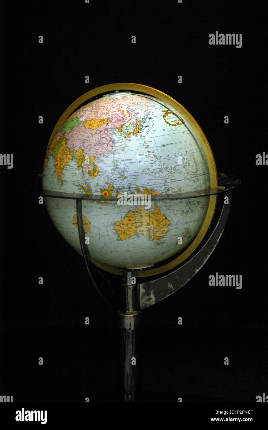 A globe of Earth is called a terrestrial globe - Stock Image