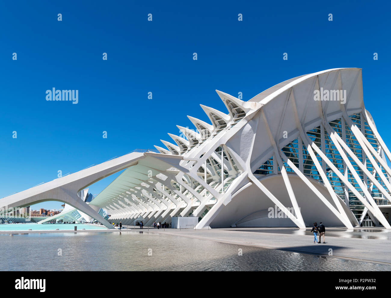 Valencia, City of Arts and Sciences. The Science Museum (Museo de las Ciencias Principe Felipe), Ciudad de las Artes y las Ciencias, Valencia, Spain. - Stock Image